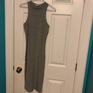 grey forever 21 midi dress